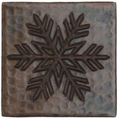 Copper Tile (TL967) Fern Snowflake Design *free shipping*