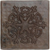 Reflection snowflake design copper tile