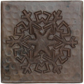 Copper Tile (TL969) Snowflake Reflection Design *free shipping*