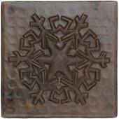 Reflection snowflake design copper tile