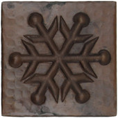 Copper Tile (TL970) Snowflake United Design *free shipping*