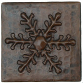 Copper Tile (TL971) Ferndale Snowflake Design *free shipping*