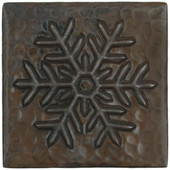 Copper Tile (TL972) Snowflake Design *free shipping*