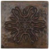Arts & Craft Snowflake Design Copper Tile TL973