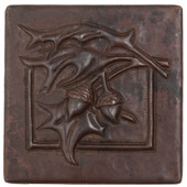 Copper Tile (TL976) Acorn Fern Design *free shipping*