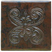 Copper Tile (TL977) Scroll Fern Design