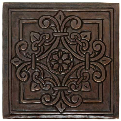 TL982 Medallion Handcrafted Copper Tile