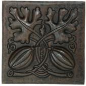 Copper Tile (TL984) Squash Design *free shipping*