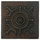 Copper Tile (TL985) Double Circle Medallion Design *free shipping*