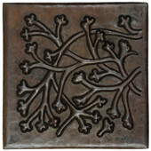 Copper Tile (TL987) Poppies Design *free shipping*