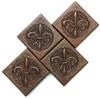 Ornate Fleur De Lis copper tile, 2x2