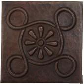 Copper Tile (TL997) Daisy w/Circles Design *free shipping*