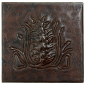 Copper Tile (TL999) Arts & Craft Pinecone Design