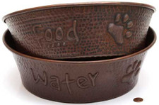 Pet Bowl (TRAD12X12-SET) Large Copper Pet Bowl-SET