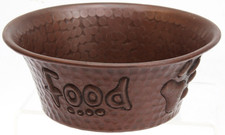 "Pet Bowl (TRAD55-FOOD) 5"" Copper Pet Bowl-FOOD"