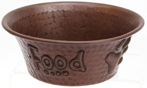 Copper pet bowls for food