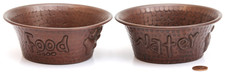 Pet Bowl (TRAD55-SET) Small Copper Pet Bowl Set of 2