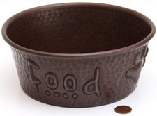 "Pet Bowl (TRAD7X7-FOOD) 7"" Copper Pet Bowl-FOOD"