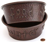"Pet Bowl (TRAD7X7-SET) 7"" Copper Pet Bowl-SET"