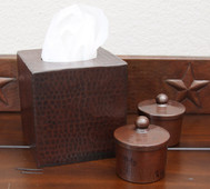 Tissue Box Cover (TSU55) Hammered Copper