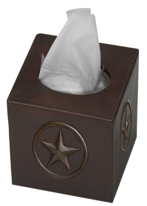 Texas Star design copper tissue box