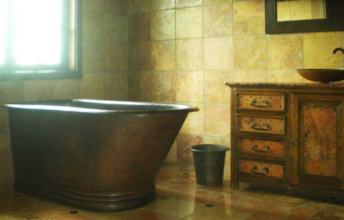 hammered copper slipper tub