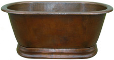 Hammered Copper Bath Tub (TUB72FLT) Hammered Copper Tub Straight