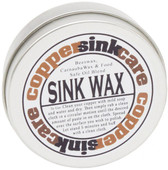 Copper sink care wax