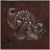 Copper Tile (TL241) Cornucopia Design