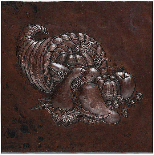 Cornucopia copper tile