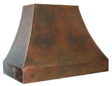 hammered copper range hood rh004base price prices vary by size - Copper Range Hoods