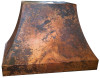 Fired copper range hood - RH004