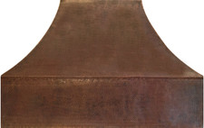 Hammered Copper Range Hood (RH009)-(Base Price) Prices Vary by Size.