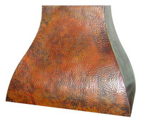 hammered copper range hood rh003base price prices vary by size - Copper Range Hoods