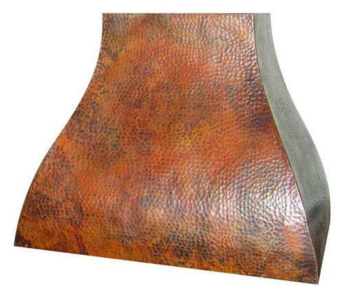 RH003 - Hammered Copper Range Hood.