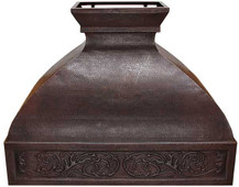 RH011 - Hammered Copper Range Hood.