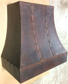 RH012 - Hammered Copper Range Hood.