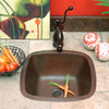 SBV15-Square copper bar sink installed