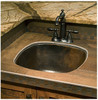 SBV15-Square copper bar sink installed in RV