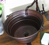 BKT17-Round Hammered Copper Bucket Sink