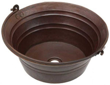 BKT17-Round Copper Bucket Sink