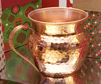 16-RH-CARA  Copper Barrel mug with Flared Top