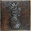 "TL502PAP-2""x 2"" Pineapple Design Accent Copper Tile"