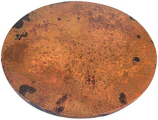 "Hammered Copper Lazy Susan 20"" Fire"