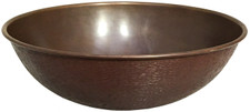Copper Vessel Sink (NPV14-HM-ENC) Small Copper Vessel Bowl