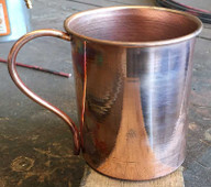 Smooth spun copper mug