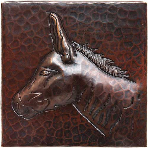 Donkey designer copper tile