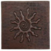Infinity sun copper tile
