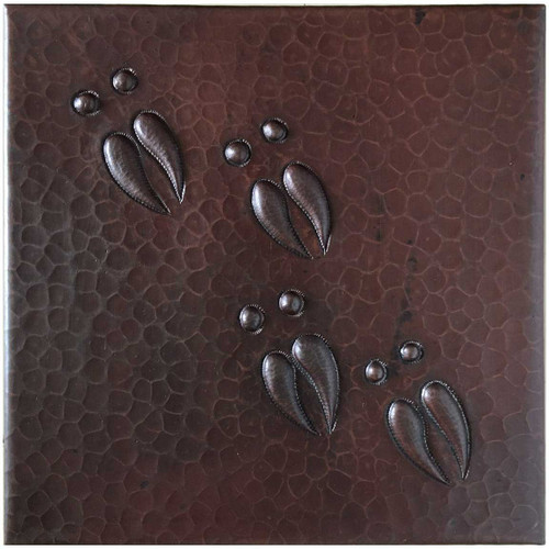 Deer Tracks copper tile TL221