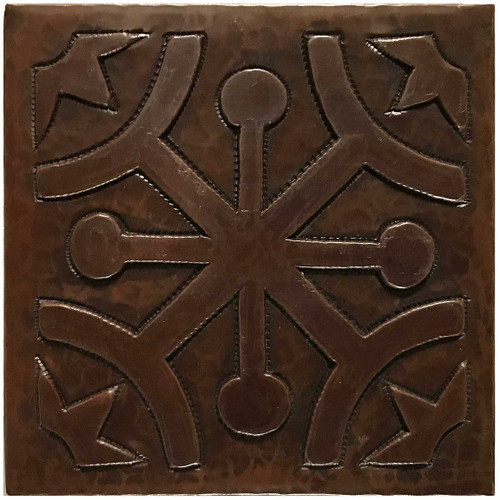 Frost Pane hammered copper tile TL224
